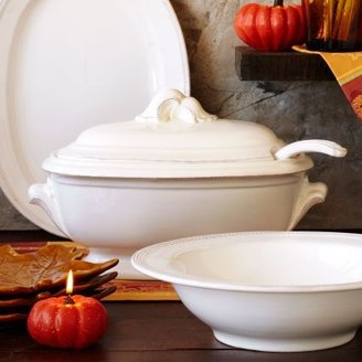 Sur La Table Baroque White Tureen with Ladle