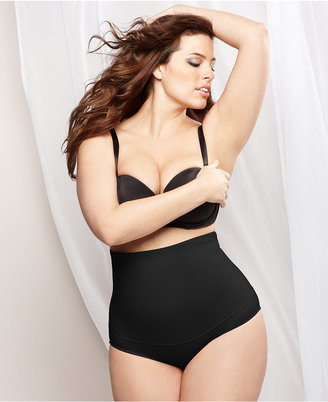 Maidenform Plus Size Fat-Free Dressing Firm Control High Waist Brief 11854 $32 thestylecure.com