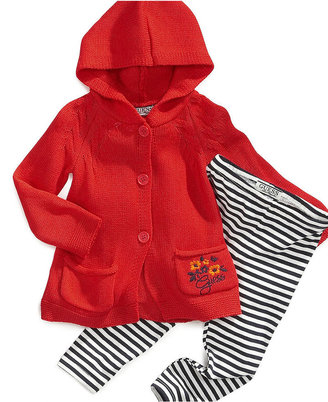 GUESS Baby Set, Baby Girls Hooded Sweater and Leggings Set
