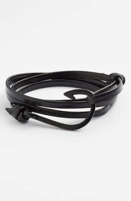 Miansai 'Noir' Hook Leather Bracelet