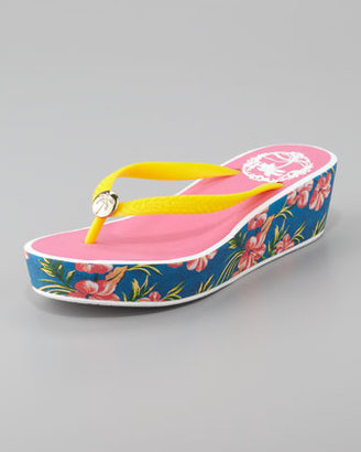 Juicy Couture Isabelle Rubber Wedge Flip Flop