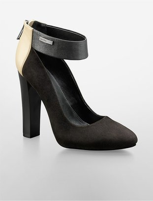 Calvin Klein Ariel Suede + Leather Pump