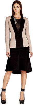 BCBGMAXAZRIA Jacket, Long-Sleeve Colorblocked Blazer