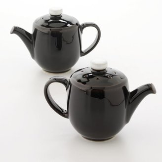 Denby Jet Black Mini Teapot Salt & Pepper Shaker Set