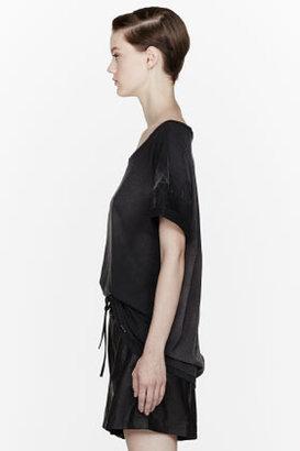 Balmain PIERRE Black faded Boxy T-Shirt