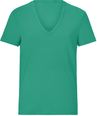 Closed Green Spruce Cotton V-Neck T-Shirt