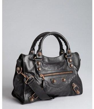 Balenciaga black leather 'Giant City' convertible shoulder bag