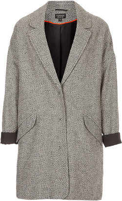 Topshop Black And White Boyfriend Coat