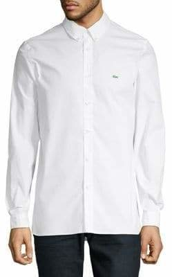 Lacoste Cotton Stretch Button-Down Shirt