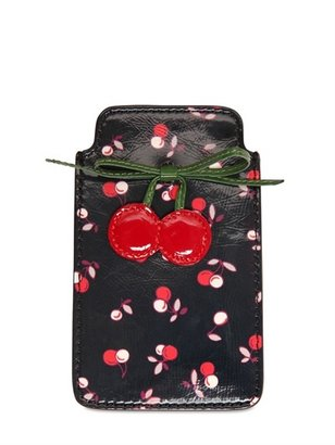 RED Valentino Cherry Printed Leather I-Phone Case
