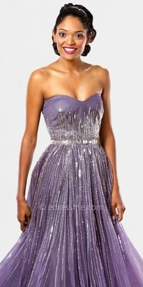 Mignon Sequin Sweetheart Evening Dresses