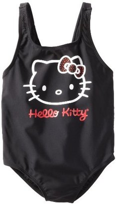 Hello Kitty Girls 7-16 1 Piece Swimsuit With Rhinestones