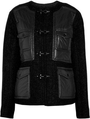 Alexander Wang Nylon-paneled wool-blend bouclé jacket