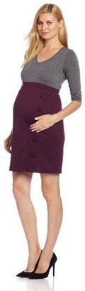 Maternal America Womens Maternity Dress with ith Button Skirt