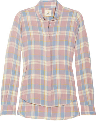 MiH Jeans Plaid brushed-cotton shirt