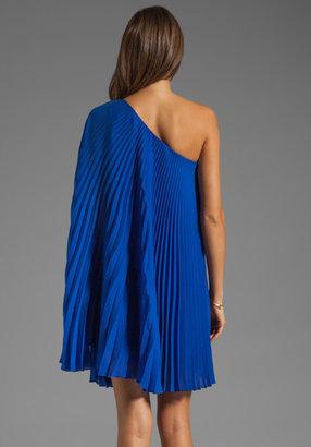 Milly Tech Double Georgette Nicola Pleat Dress