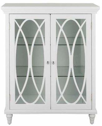 Elegant Home Fashions Laurel Double Door Floor Cabinet - White - 32