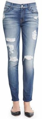 7 For All Mankind The Ankle Skinny-Fit Destroyed Jeans $225 thestylecure.com