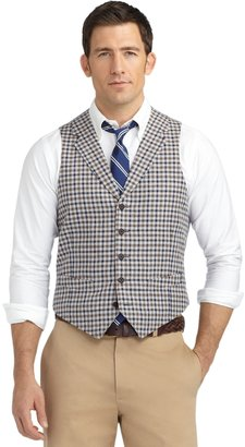 Brooks Brothers Check Vest