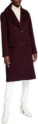 Fleurette Single-Breasted Wool Boxy Coat