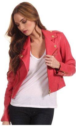 Balmain Pierre Stud Leather Jacket 6M79P0 (Red) - Apparel
