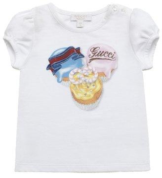 Gucci Baby Girl Cupcake Print T-Shirt
