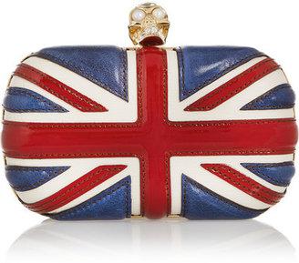 Alexander McQueen - The Britannia Skull Leather Box Clutch - Red $1,695 thestylecure.com