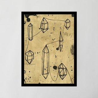 west elm Framed Print - Crystal Journey