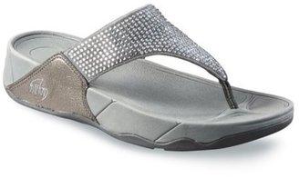 FitFlop Womens's Rokkit Flip Flop,Silver Nova,7 M US