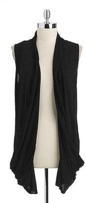 DKNY Sleeveless Open-Front Cardigan