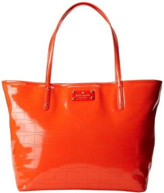 Kate Spade Signature Punched Small Coal Tote