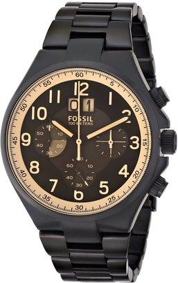 Fossil Men's CH2910 Qualifier Chronograph Black Stainless Steel Bracelet Watch