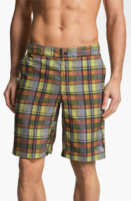 The North Face 'Pacific Creek' Board Shorts High Rise Grey Plaid 40