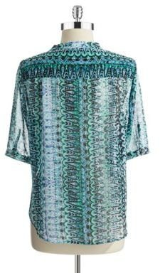 Vince Camuto TWO BY Geo Print Blouse