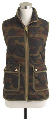 Camo Excursion quilted vest in