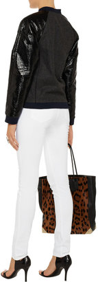 Alexander Wang Stretch-sateen high-waisted jeans