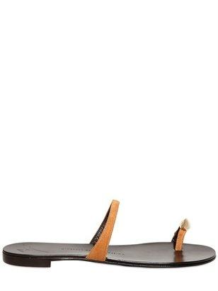 Giuseppe Zanotti 10mm Suede & Metal Sandals