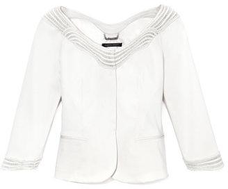 Alberta Ferretti Wave Trim Jacket