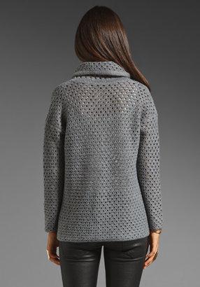 James Perse Open Stitch Marina Sweater