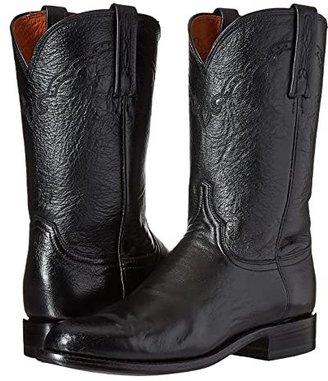 Lucchese M1010 (Black Lonestar Calf) Cowboy Boots