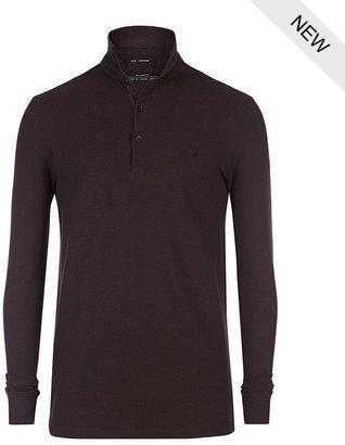AllSaints Sandringham Long Sleeved Polo