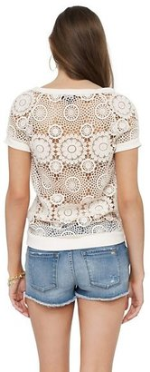 Juicy Couture Guipure Lace Pullover