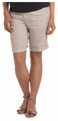 Esprit Women's UTB Chino Maternity Shorts, White, 8