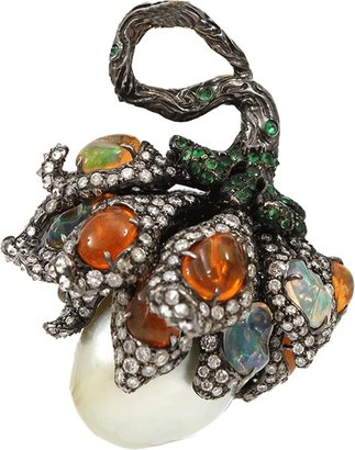 Arunashi South Sea Pearl Wildflower Pendant