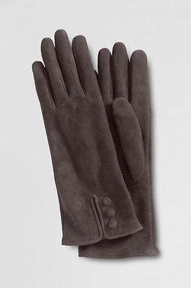 Lands' End Women's 3-button Washable Suede Gloves
