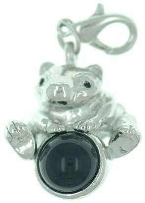 Pugster Kid Jewelry Baby Kongfu Pig On Black Stone Lobster Clasp Pendant Dangle Charmss