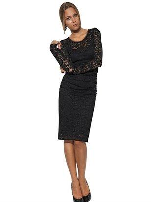 Dolce & Gabbana Silk Viscose & Stretch Lace Dress