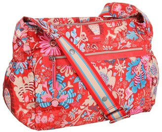 Oilily Winter Leaves Baby Shoulder Bag (Ruby) - Bags and Luggage