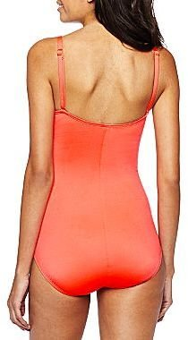 JCPenney a.n.a® Shirred-Side Underwire One-Piece Swimsuit