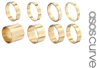 Asos Pack of 8 Smooth Rings
